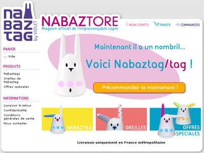 Précommander Nabaztag/tag